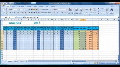 How To Make Attendance Sheet In Excel Youtube How To Create A Template In