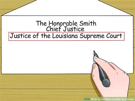 How To Address A Superior Court Judge In A Letter