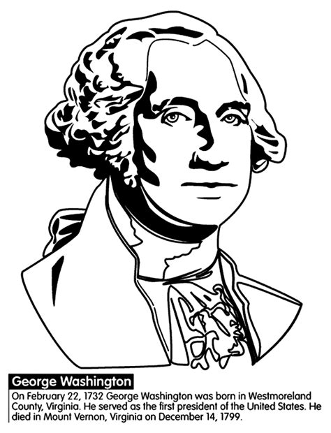 washington coloring pages coloring page george washington coloring home