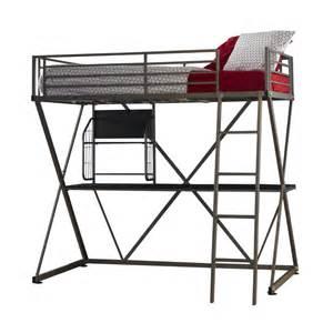 Powell Kitchen Islands by Powell Z Gunmetal Twin Loft Bunk Bed With Desk In Myrtle Beach
