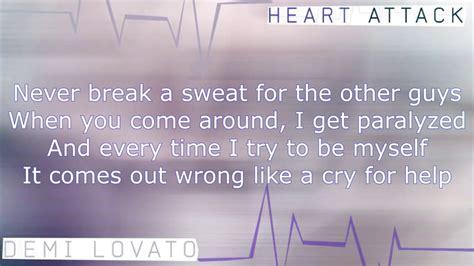 demi lovato heart attack lyrics karaoke demi lovato heart attack karaoke official instrumental