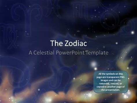 zodiac stars a powerpoint template from presentermedia com