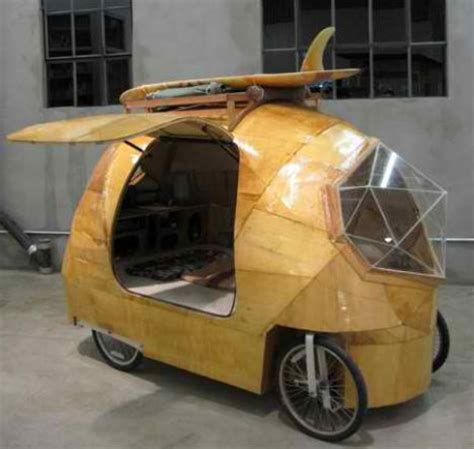 Living On One Dollar Trailer by Bike Campers 12 Mini Mobile Homes For Nomadic Cyclists