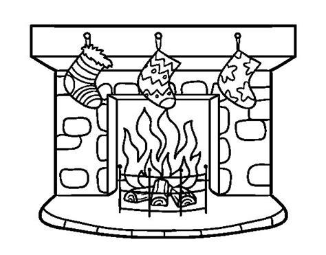 dibujos de navidad para colorear dibujosnet dibujo de chimenea de navidad para colorear dibujos net