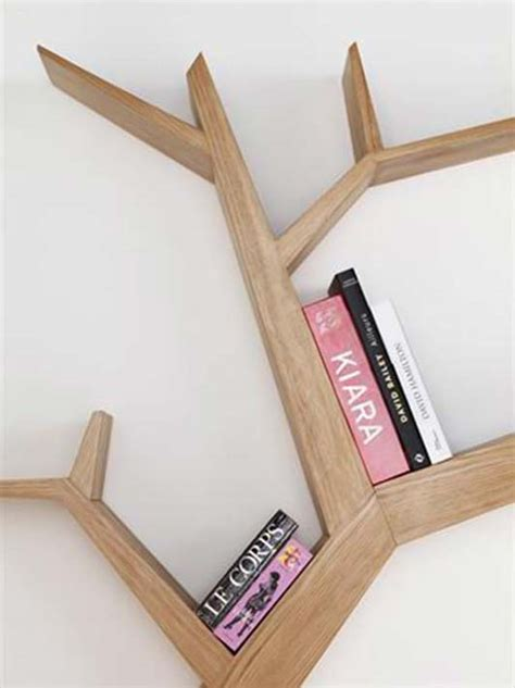 beautify your wall decor with tree branch bookshelf from