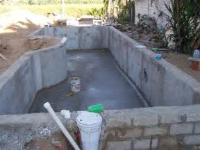 Building A Pool House by Home Built Swimming Pool Building A Swimming Pool In