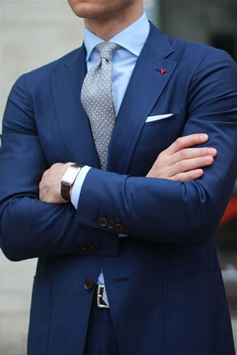 light navy blue suit navy blue suit with grey polkadot tie pictures photos