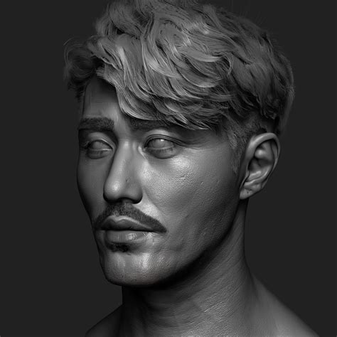 male model hair tutorial male models picture artstation cha seung won zbrush modeling dahye kim
