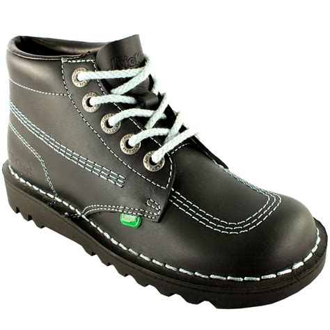 womens kickers kick hi classic leather office work ankle