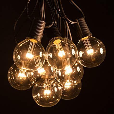 50 foot led warm white globe patio string lights set of