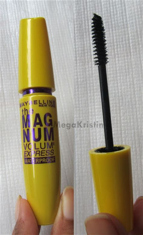 Maybelline Mascara Magnum Waterproof Original maybelline the magnum volum express mascara mega kristin