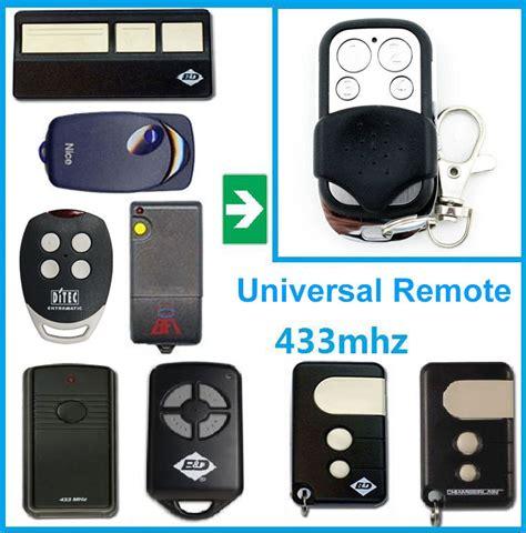 Universal Garage Door Remote Replacement Universal Electric Garage Door Remote Replacement 433mhz
