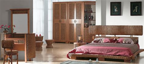 brown wicker bedroom furniture amazing brown rattan wicker bedroom furniture set with