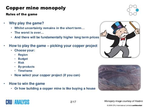monopoly rules buying houses copper mine monopoly oct 2009 cru analysis