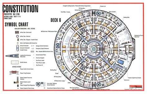 star trek enterprise floor plans deck 6 constitution class star fleet academy