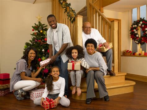 family christmas tree jarrettsville mixed race family around tree stock photo image of giving children 20467944