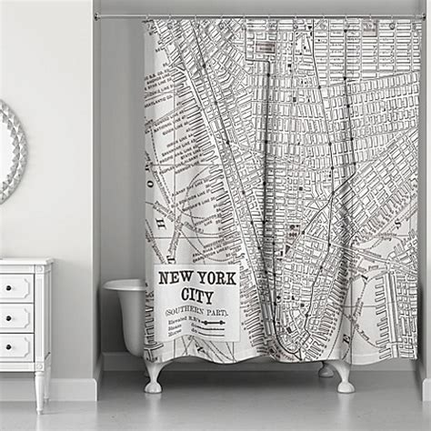 new york city curtains new york city lines map shower curtain in black white
