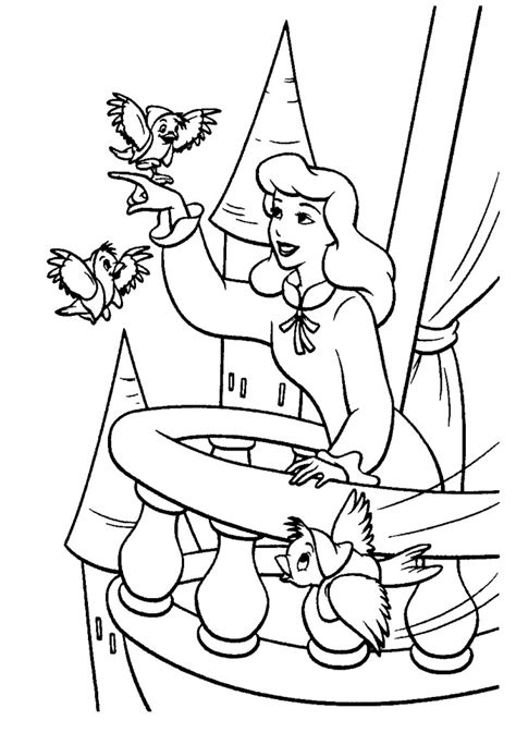 coloring pages of cinderella to print free printable cinderella coloring pages for kids