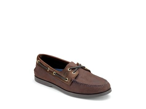 sperry top sider a o 2 eye classic boat shoe in brown for