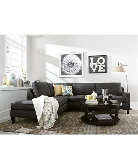 macys living room furniture alanis fabric sectional living room furniture collection