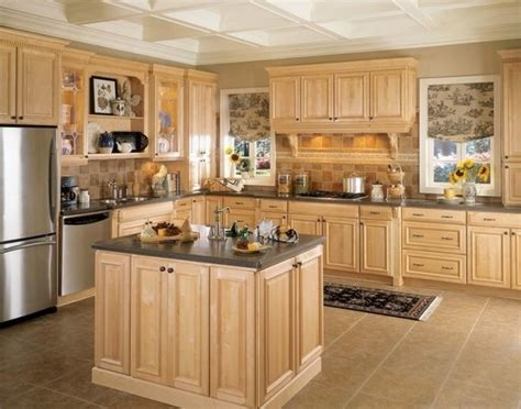 Light Oak Kitchen Units Kitchens Light Oak Kitchen Cabinets Light Oak Kitchen Hutch With Bronze Furniture Handles Also
