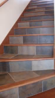Tile Stairs by Tile And Wood For Your Stairs Contemporary Staircase