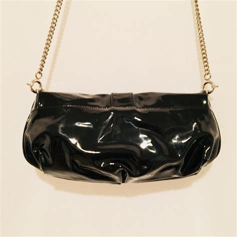 Dg Dolce And Gabbana Patent Clutch by Dolce Gabbana With Bow Black Patent Leather Clutch