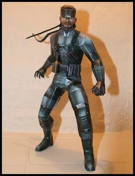 Metal Gear Papercraft - metal gear papercraft solid snake paperkraft net