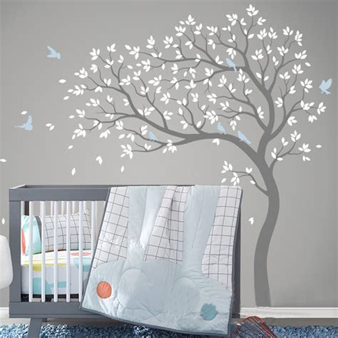 Modern Nursery Wall Decals New Tree Wall Sticker Vinyl Removable Pvc Modern Nursery Wall Decals Poster Mural