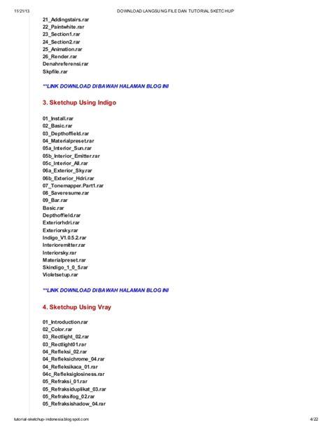 tutorial blogspot indonesia download langsung file dan tutorial sketchup di blog http