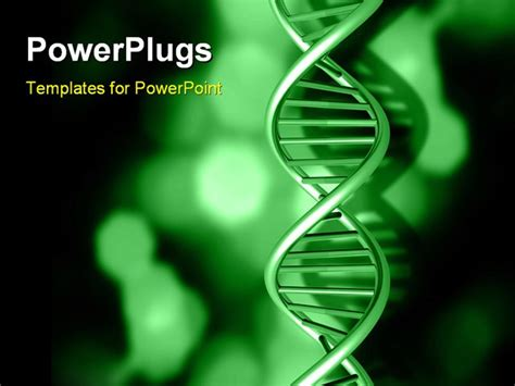 layout powerpoint dna powerpoint template black background with green strands