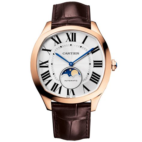 cartier drive moonphase 40mm 18ct pink gold s