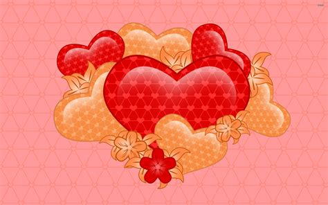 wallpaper flower and heart hearts and flowers wallpaper 774291