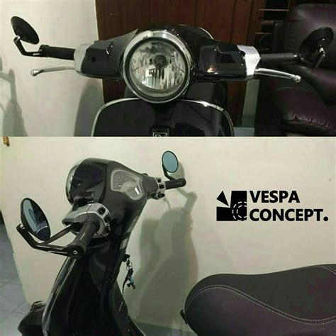Bar End Mirror Spion Jalu jual class retro bar end mirror spion jalu vespa lx s