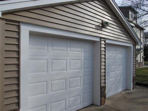 Garage Door Vinyl Trim by House Fascia