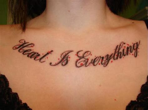 female chest tattoo chest tattoos for quotes quotesgram