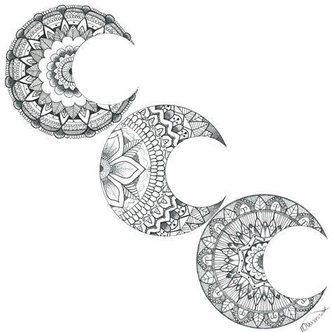 moon mandala tattoo moon mandalas moon mandala idea