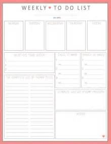 Monthly To Do List Template Gallery For Gt Cute Weekly To Do List Template