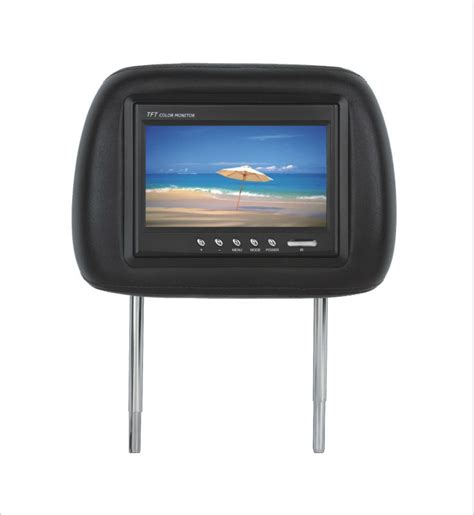 Tv Headrest 7 quot headrest monitor with pillow 7 inch car lcd headrest