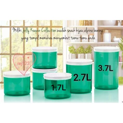 Tupperware Jolly Keeper 2 7l limited tupperware jolly keeper tosca color 1pc