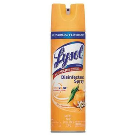 aerosol   lysol disinfectant spray citrus meadow scent  bottles  case