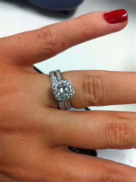 how would my wedding set look with an eternity ring