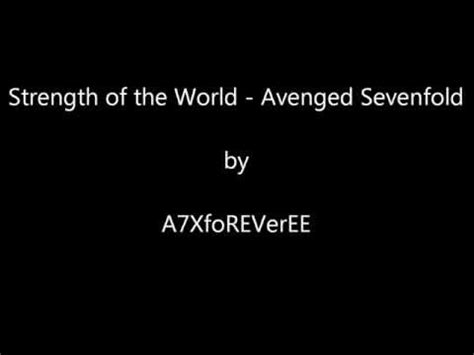 a7x strength of the world instrumental avenged sevenfold a7x sidewinder w lyrics phim