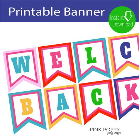 printable banner free printables welcome back banner free printables