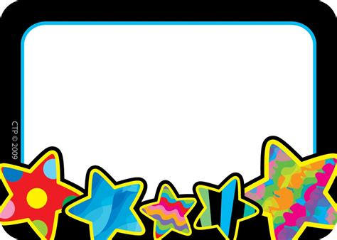 name tag design clipart poppin patterns stars name tags labels