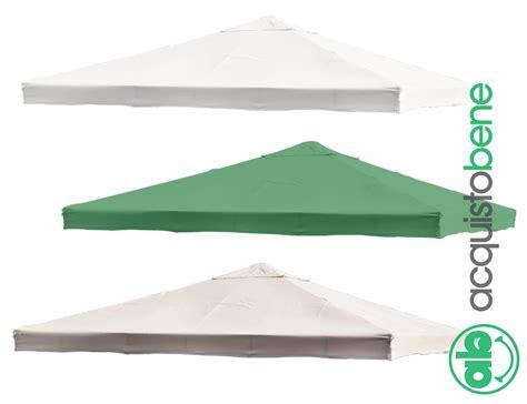 ricambi ombrelloni da giardino top copertura di ricambio telo gazebo 3x3 3x4 mt bianco