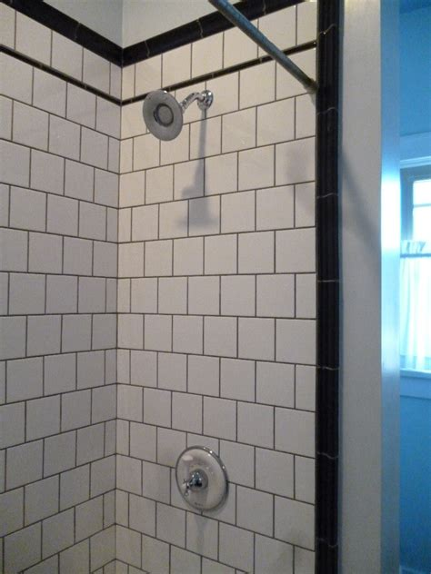 Subway Tile Design And Ideas Gray Subway Tile Shower Ideas Amazing Tile