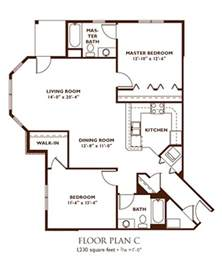 2 Bedroom Floor Plans by Apartment Floor Plans Nantucket Apartments