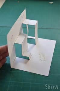 pattern for fold up box pop up tutorial 2 asymmetric box fold books pop ups