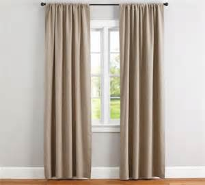 Pottery Barn Black Out Curtains Emery Linen Cotton Curtain Pottery Barn Au